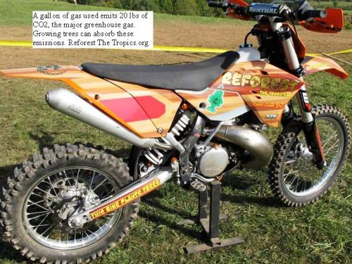 Carbon Balanced Motorcycle at the Unadilla GNCC Woods Race