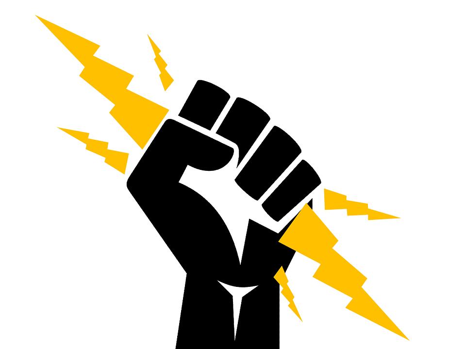 Electricista, Puño, El Poder, Electricidad, Tormenta