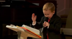 Watch 4-Year-Old Kid Take Mic in Pentecostal Church, Run Around Crazy, and Ask For Money