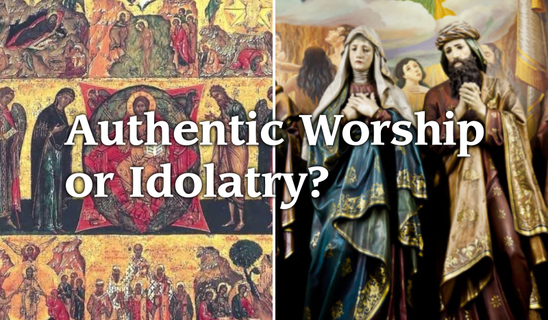 Catholic Eastern Orthodox Icons Statues Idolatry