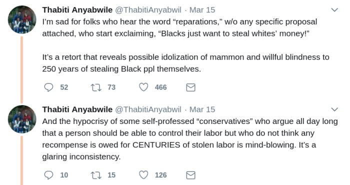 thabiti anyabwile on twitter reparations money idolatry