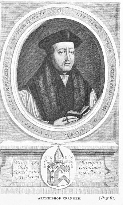 Archbishop Thomas Cranmer