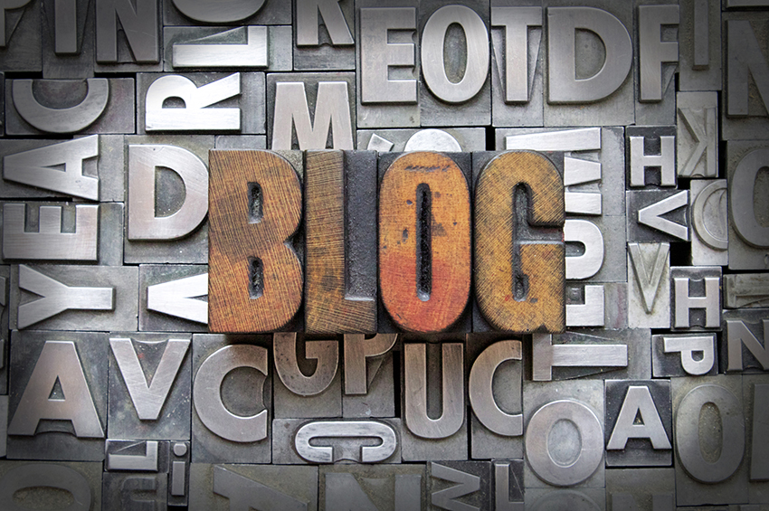 Image of the word Blog