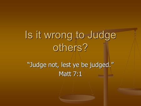 Matthew 7.1