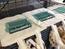 Retro Radio bag at the printing press