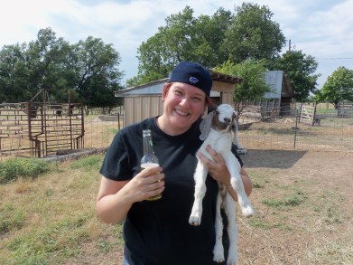 Me and a Goat and a Beer. :)