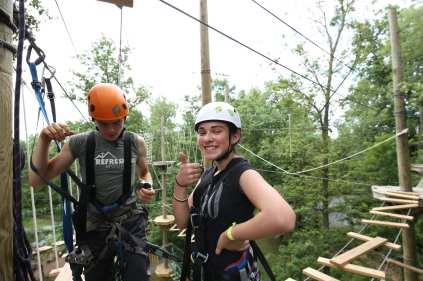 Challenge Zipline Summer Kids Happy