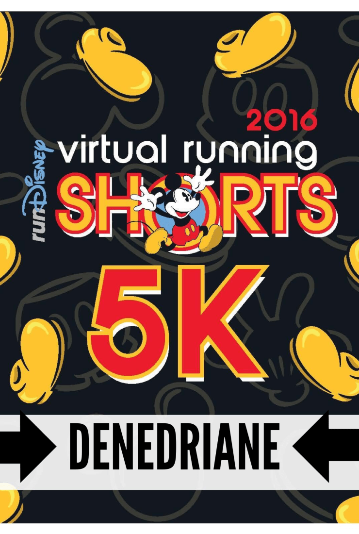 My run with Disney…at home news: I just ran in the first ever runDisney Virtual running shorts 5k!