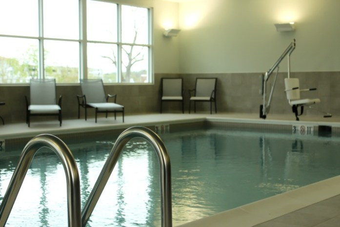 The lovely indoor pool at Hotel Madison.