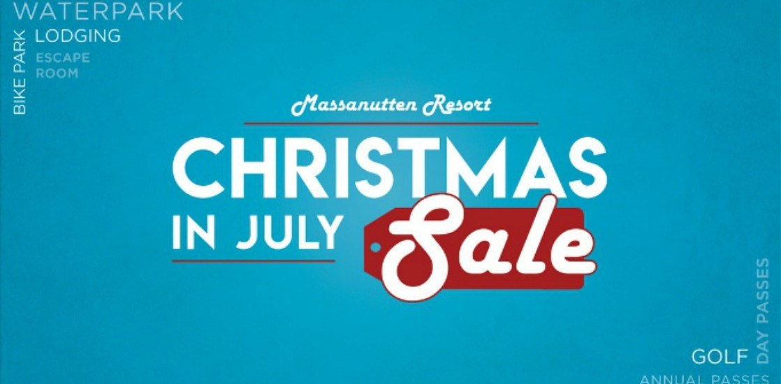 Christmas in July sale at Massanutten Resort!