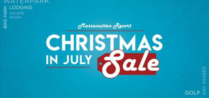 Christmas in July sale at Massanutten Resort!