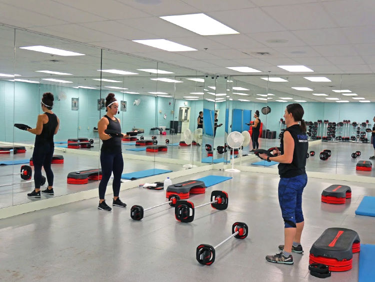 Great new workout spaces at the Massanutten Fitness and Rec Club!
