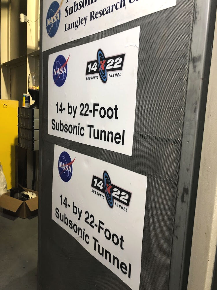 On our way to the wind tunnel at NASA Langley