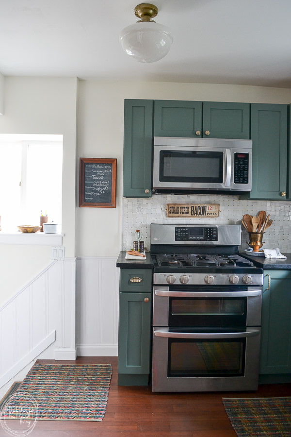 Modern Kitchen With Vintage Touches Budget Friendly Makeover Refresh Living