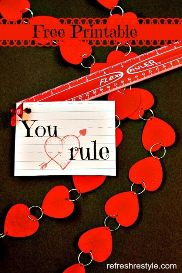 You Rule Valentine Printables | Refresh Restyle