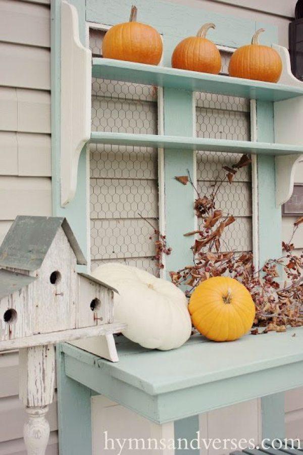 Pumpkins Potting Bench