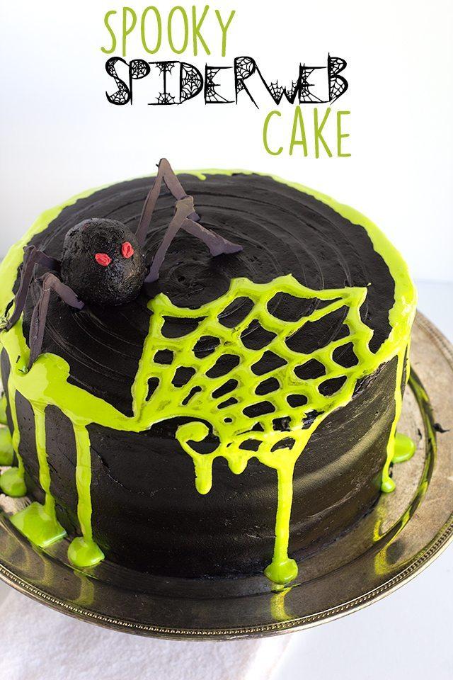 spooky-spiderweb-cake