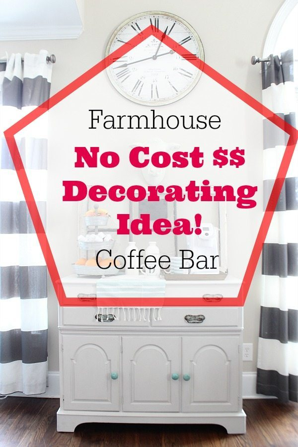 Coffee Station Farmhouse Style Refresh Restyle