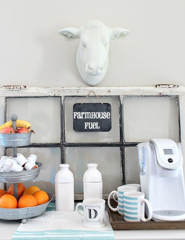 coffee station farmhouse style