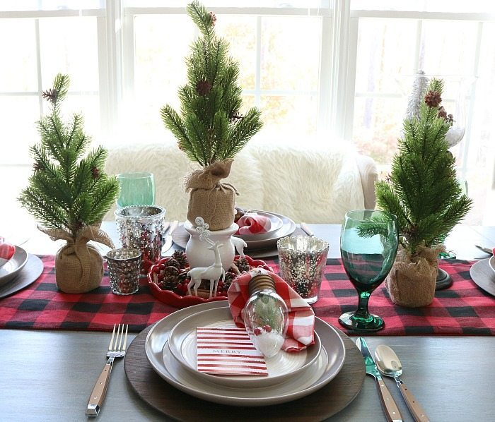Farmhouse Christmas Tablescape Refresh Restyle