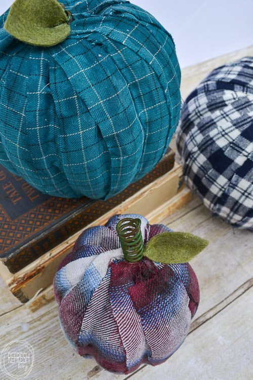 upcycle-old-flannel-shirts-into-easy-DIY-pumpkins-5
