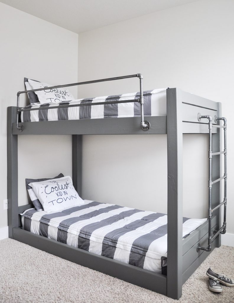 Industrial-Bunk-Bed-Free-Plans-Cherished Bliss