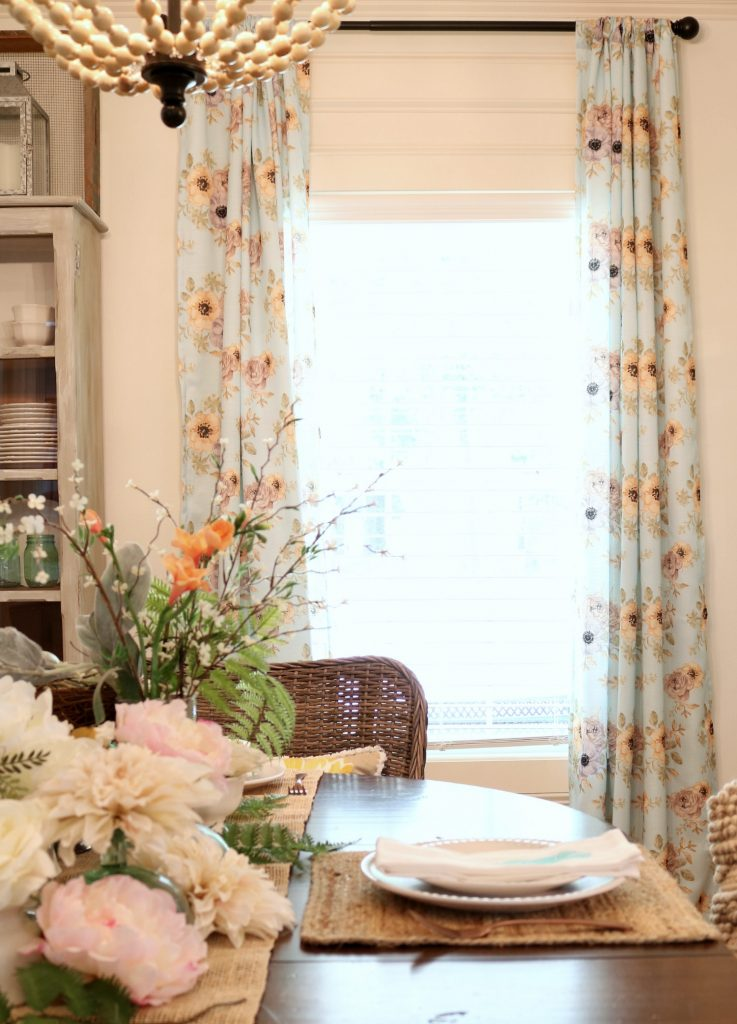 Affordable Dining Room Decor for that casual cottage ... on Dining Room Curtains Farmhouse  id=59713