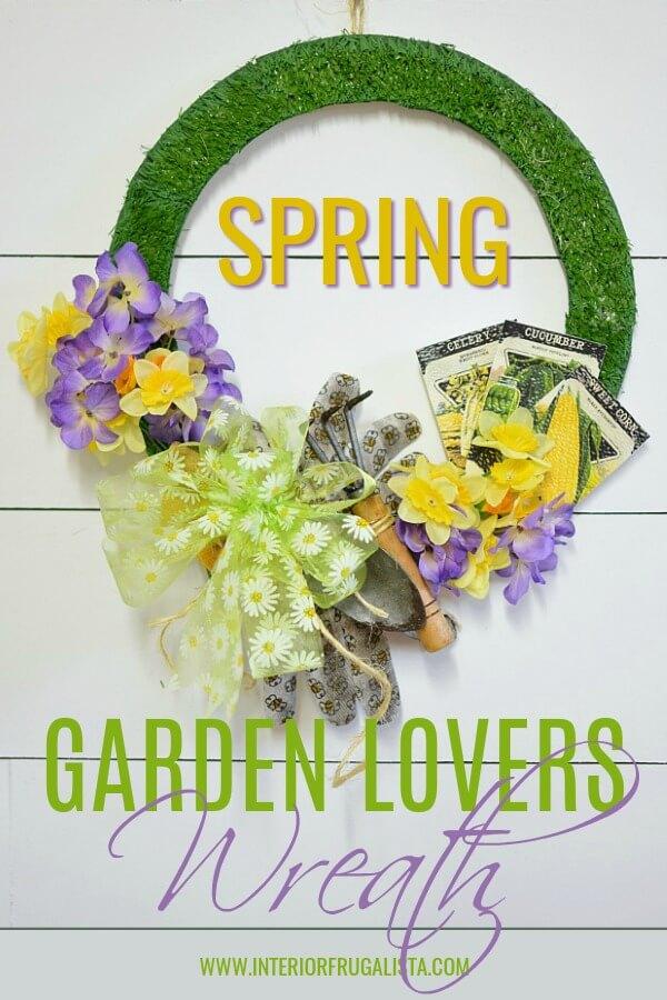 Spring Garden Lovers Wreath Pin