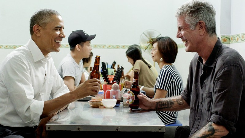 barack obama anthony bourdain