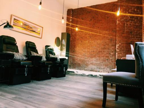 Our comfortable Pedicure and Manicure Area