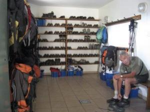 visite guidé salle de chaussures