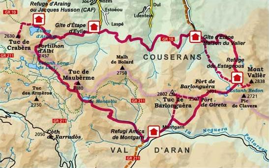 carte de Pass'Aran