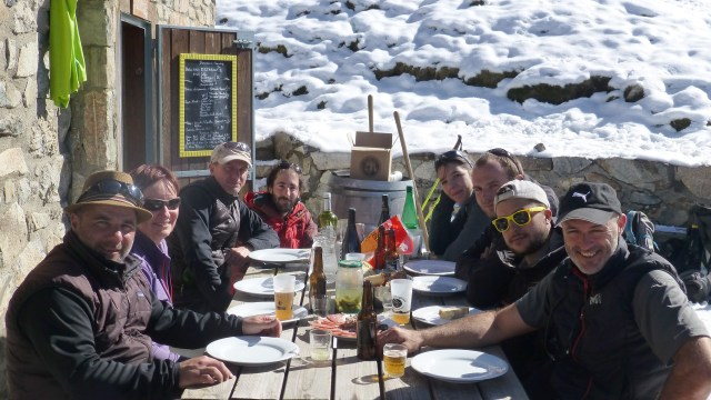 soirée des gardiens - repas en terrasse