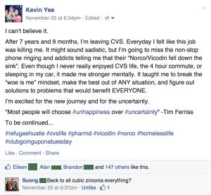 Leaving CVS Facebook