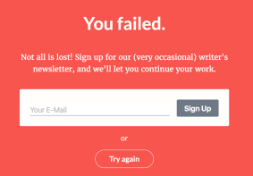 Failing the most dangerous writing app