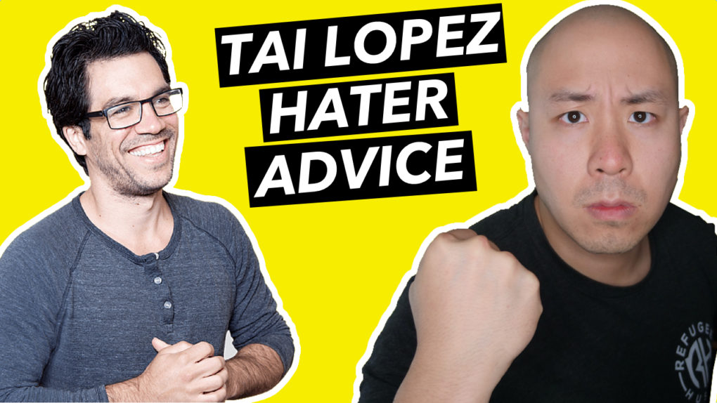 Hater advice from Tai Lopez Debating a Hater Live