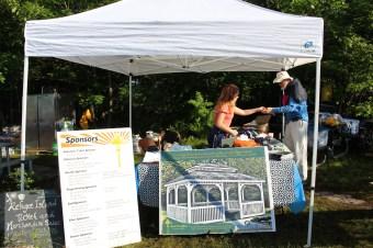 Merchandise Tent during Island Breakfast