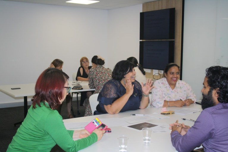 Participants from Cairns settlement agency Centacare participate in Refugee Health Network QLD education hosted by Northern QLD PHN