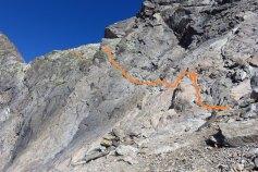 câbles sous le col du Mont Tondu