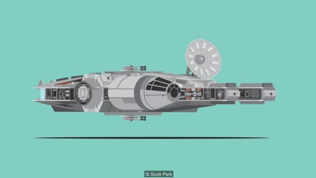 Corellian YT-1300 light freighter Millennium Falcon