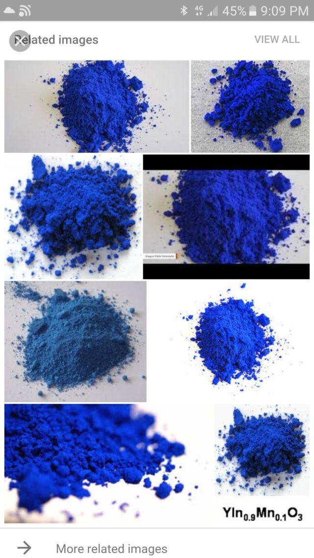 montones de polvo azul