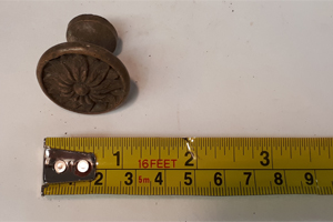 antique flower drawer knob