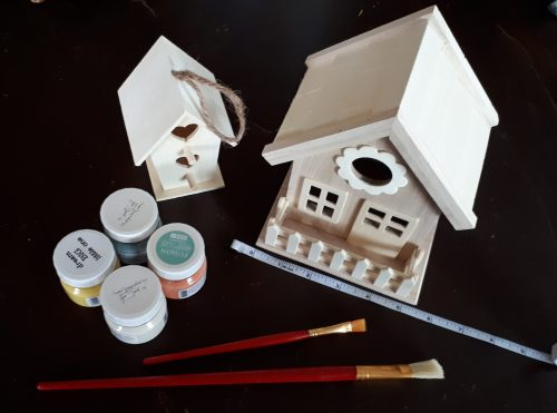 painted birdhouse kit