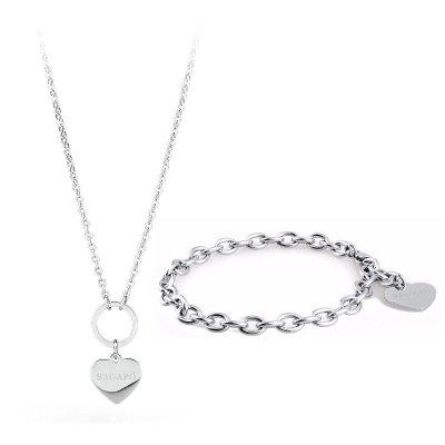 Regali per Donna  sagapo-bracciale-collana Completo bracciale e collana s'Agapò l'idea regalo per conquistare una donna