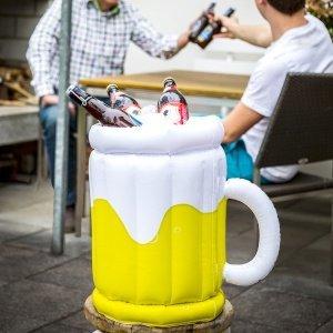 Feste e Anniversari Regali per uomo  PortaBirraGonfiabile-Bicchieredibirra-Regalo Porta Birra Gonfiabile - Bicchiere di birra