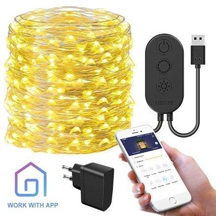 Casa & Ufficio Feste e Anniversari  AppControlledStringLights-Regalo Luci di Natale a LED controllate da app