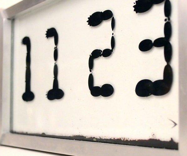 Casa & Ufficio Oggetti Fantastici  FerrofluidClock-Regalo Orologio ferrofluido