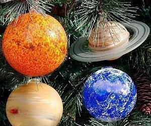 Feste e Anniversari  SolarSystemPlanetsOrnamentSet-Regalo Decorazioni albero di natale Set sistema solare