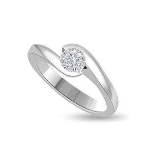 Feste e Anniversari Regali per Donna  AnellodifidanzamentoSolitariodadonnainorobianco18k-Regalo Solitario da donna in oro bianco con diamante