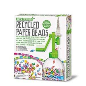 Regali per Ragazzi  4M-FunCraftsPerlineconCartaRiciclata-Regalo 4M - Fun Crafts Perline con Carta Riciclata